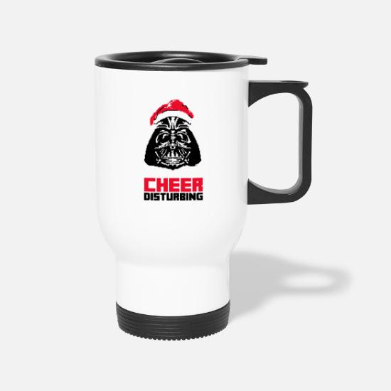 Your Mom Mugs & Drinkware - I Find Your Lack of Cheer Disturbing - Travel Mug white