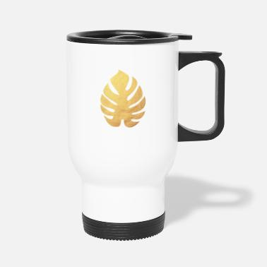 Deluxe Monstera Philodendron Yoga Gold Leaf exclusive - Travel Mug