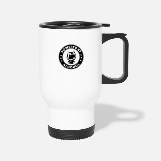 Alcohol Mugs & Drinkware - Powered By Alcohol - Travel Mug white