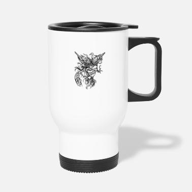 Dangerous Monster Creature Dangerous Scary Halloween - Travel Mug