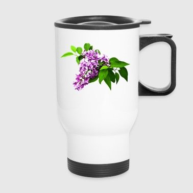 Lilacs and Leaves - Travel Mug