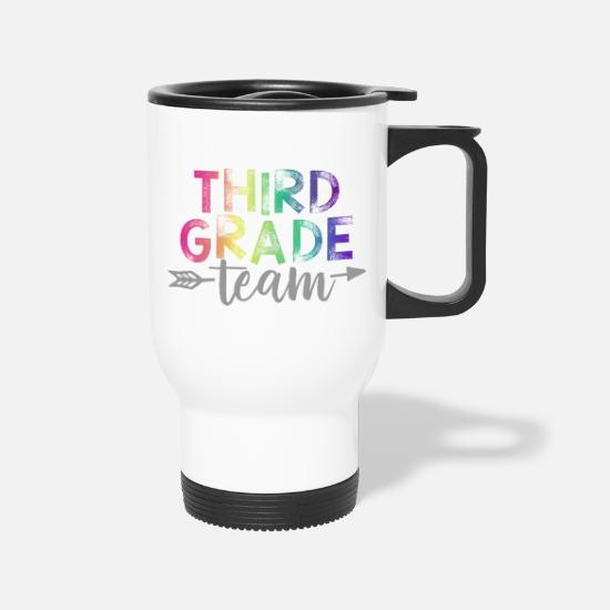 Teacher Mugs & Drinkware - Third Grade Team Teacher T-Shirts Rainbow - Travel Mug white