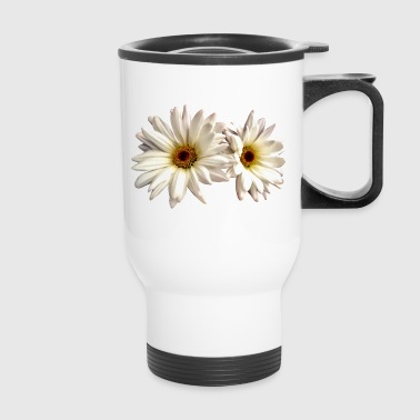 Pair Of White Daisies - Travel Mug