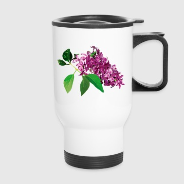 Small Cluster of Pink Lilacs - Travel Mug