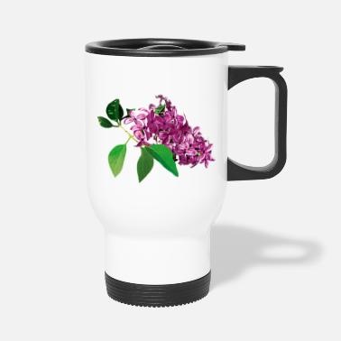 Lilac Small Cluster of Pink Lilacs - Travel Mug