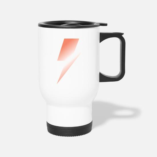 Spliff Mugs & Drinkware - Orange Bolt - Travel Mug white