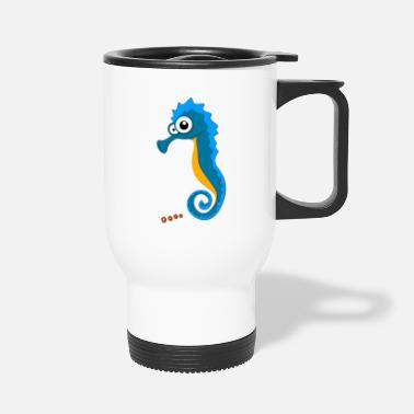 Sea Sea Horse on the Sea - Travel Mug