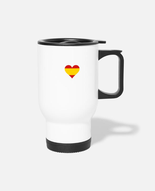 Bullfight Mugs & Cups - I Love Spain - Travel Mug white