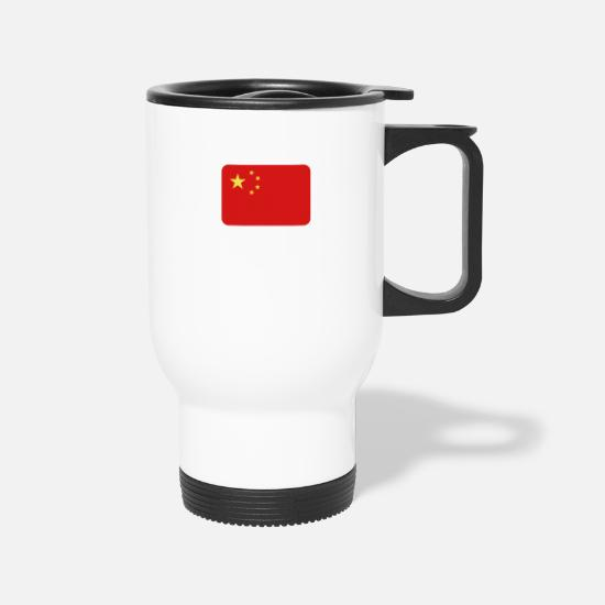 Mandarin Mugs & Drinkware - National Flag Of China - Travel Mug white