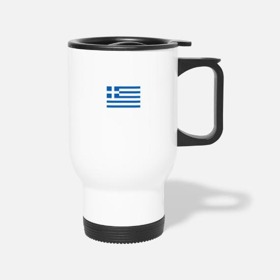 Greek Mugs & Drinkware - Greek superpower - Travel Mug white