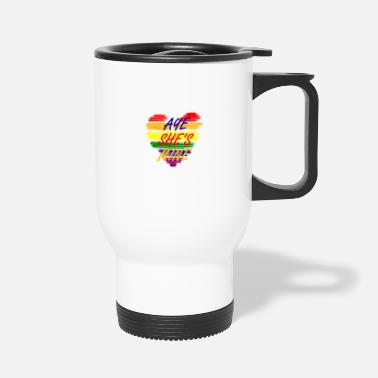 Win Aye She's Mine LGBT Gay Heart Gift - Travel Mug