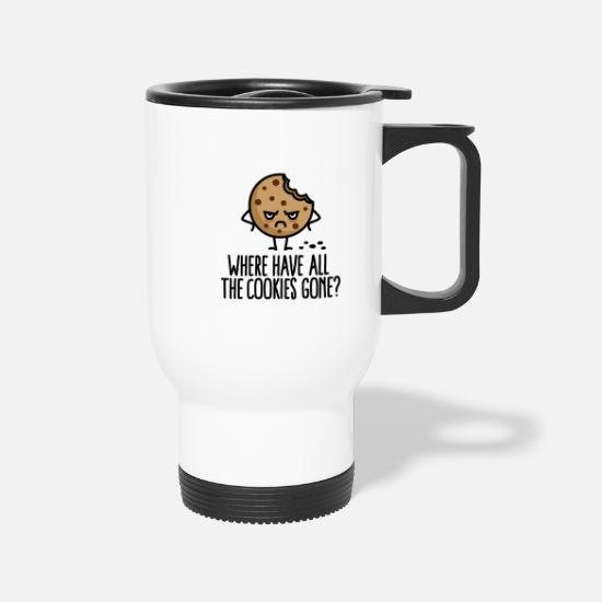 Christmas Mugs & Drinkware - where have all the cookies gone SPRD - Travel Mug white