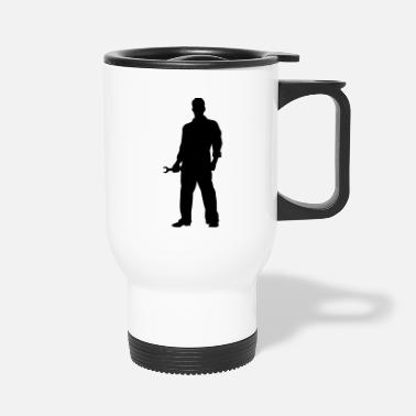 Mechanic Silhouette - Travel Mug