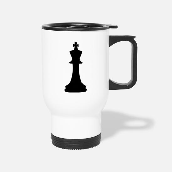 Checkmate Mugs & Drinkware - Chess King - Travel Mug white