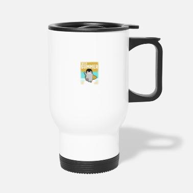Antarctica Penguin: Hello Summer - Travel Mug