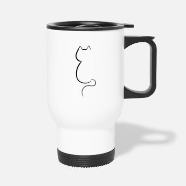 Outline Cat outline - Travel Mug