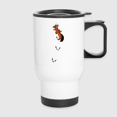 squirrel climbing up your back animal tracks tree - Travel Mug