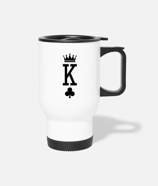 Poker Mugs & Cups - King of Cards - Travel Mug white