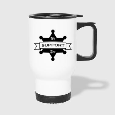 Support Law Enforcement Black - Travel Mug