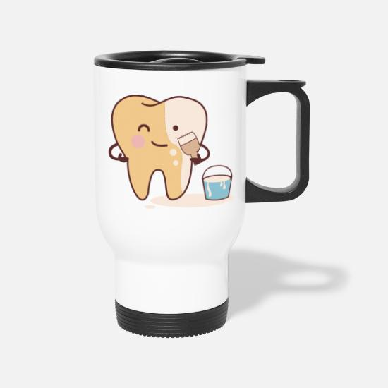 Treatment Mugs & Drinkware - Tooth Whitening Bleaching Clean Funny Dentist - Travel Mug white