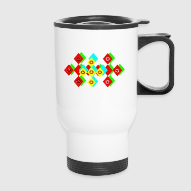 triangles - Travel Mug