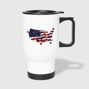 Land Of The Free Home Of The Brave - Travel Mug