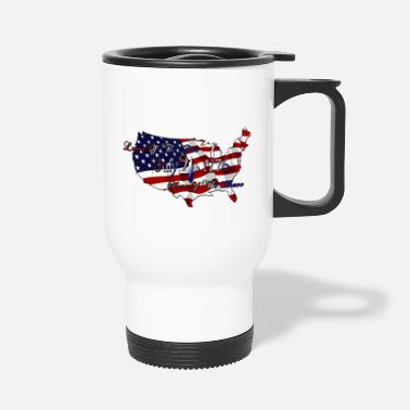 Home &amp Land Of The Free Home Of The Brave - Travel Mug