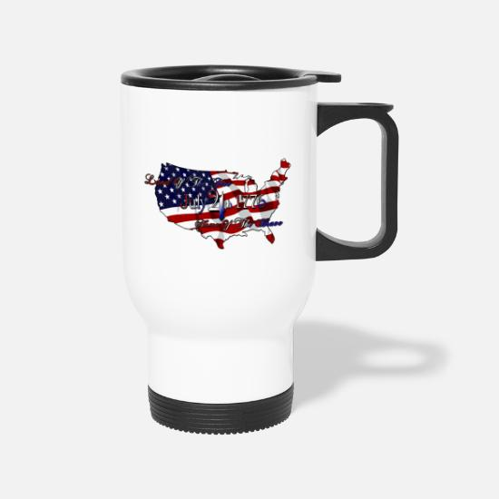 Free Mugs & Drinkware - Land Of The Free Home Of The Brave - Travel Mug white
