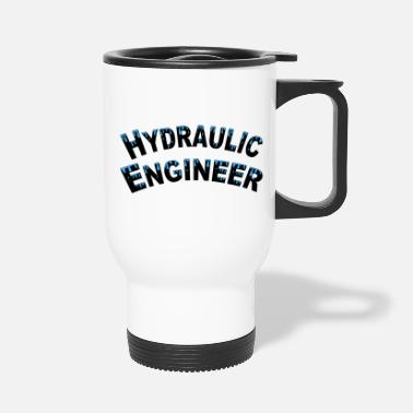 Water Droplets Hydraulic Engineer Water Droplets - Travel Mug
