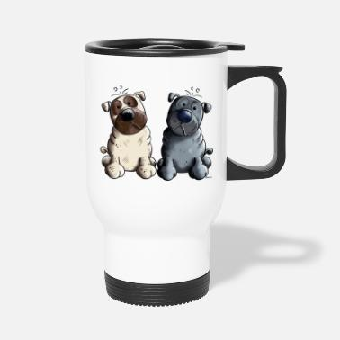 Two Two funny Pugs - Travel Mug