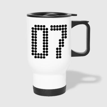 07, Numbers, Football Numbers, Jersey Numbers - Travel Mug