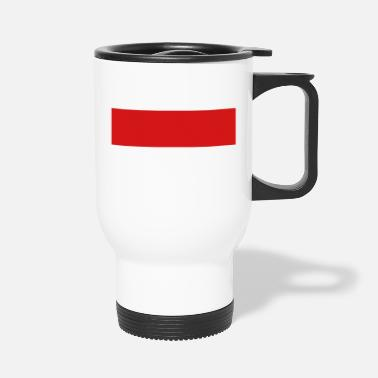 Quadrat Red Stripe Quadrat - Travel Mug