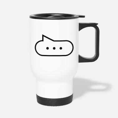 Stupid Blab Speech bubble with points - Travel Mug