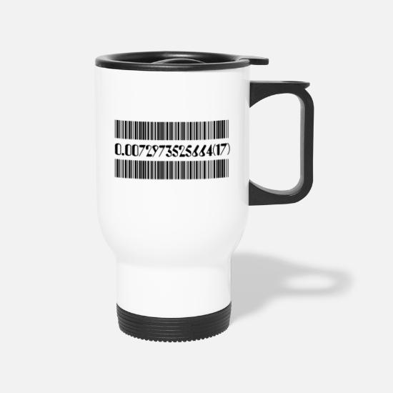 Constant Mugs & Drinkware - Fine Structure Constant - Travel Mug white