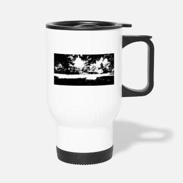 Idyll a glade with a pavillion - Travel Mug