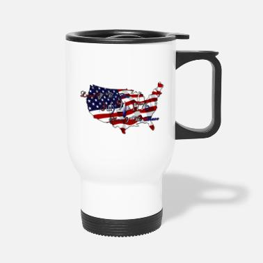 Home Free Land Of The Free Home Of The Brave - Travel Mug