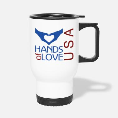 Cuore I love USA - Travel Mug