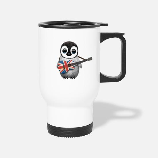 Penguin Mugs & Drinkware - British Guitar Penguin - Travel Mug white