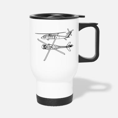 America Love Helicopter Pilot Huey Chopper T-shirt - Travel Mug