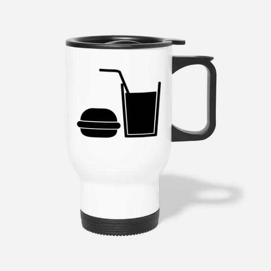 Fast Food Mugs & Drinkware - Fast Food - Travel Mug white