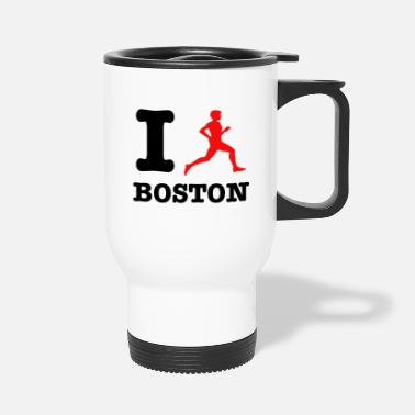 Boston Marathon I run boston design - Travel Mug