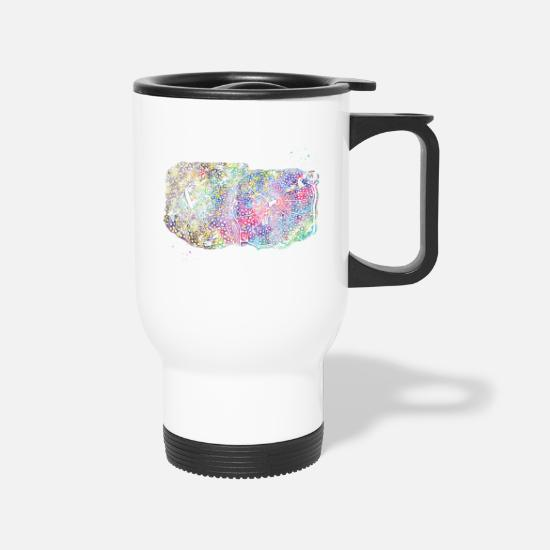 Watercolor Print Mugs & Drinkware - Fatty infiltration of the liver - Travel Mug white