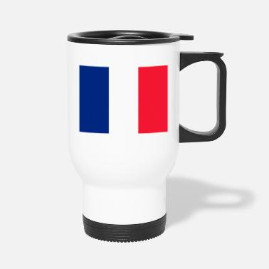 French Flag Saint Martin (French part) Flag - Travel Mug
