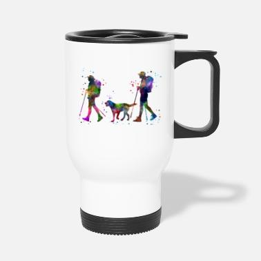 Couples Traveling as a couple, couple, couple traveling - Travel Mug