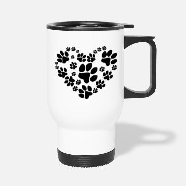 Heart Paws Heart - Travel Mug