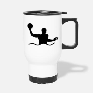 Water-polo Water Polo Ball Player Sports - Travel Mug