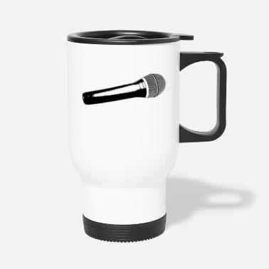 Vector Microphone Vector - Travel Mug
