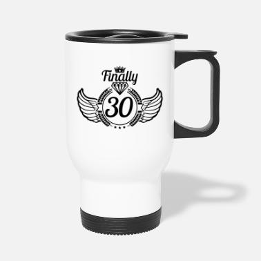 Years Old 30_finally_design_yb1 - Travel Mug