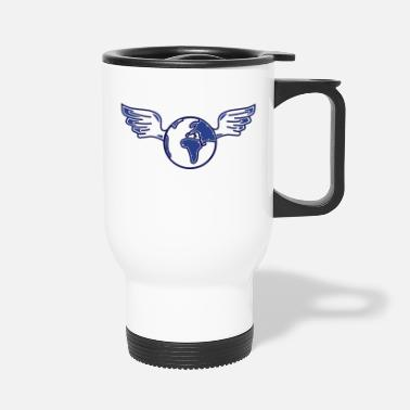 World earth with wings - Travel Mug