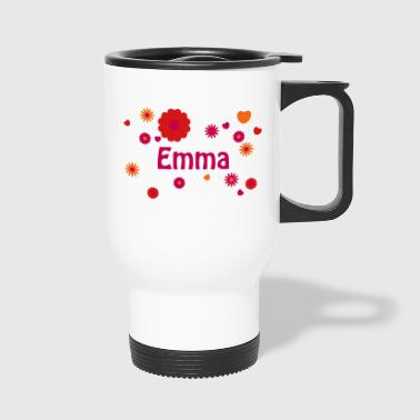 EMMA flower power name with hearts hippie - Travel Mug